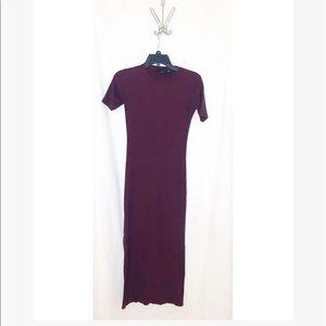 Zara • maxi Maroon dress